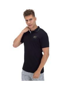 Camisa Polo Ecko Piquet Fash Basic E542A - Masculina - Preto