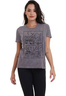 Camiseta Básica Jay Jay Get Lost Chumbo Dtg