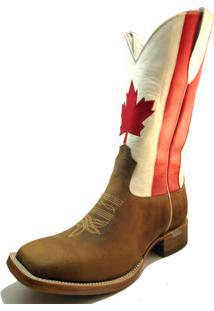 Bota Texana Canadá Bico Quadrado Marrom