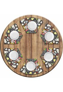 Jogo Americano Para Mesa Redonda Wevans Pizza Menu Kit Com 6 Pçs Love Decor