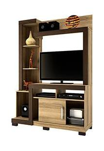 Estante Para Tv Isa 3 Prateleiras Cappuccino Wood E Ébano - Linea Brasil