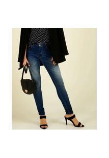 Calça Jeans Puídos Skinny Feminina