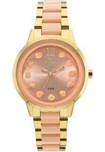 Relógio Allora Feminino Par Perfeito Flor Bicolor - Al2039As/K4L Al2039As/K4L - Feminino-Dourado