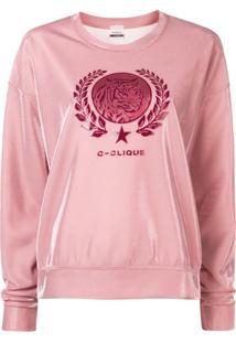 Pinko Moletom Com Logo - Rosa