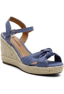 Sandalia Violanta Lien Jeans Feminina - Feminino-Azul