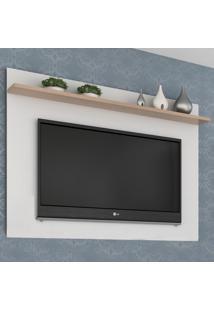 Painel Para Tv Até 50 Polegadas Benevello 2035 Branco - Quiditá Móveis