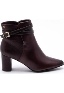 Ankle Boot Couro Mocha