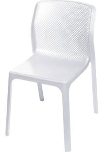 Cadeira Bit Nard Empilhavel Polipropileno Branca - 53554 Sun House