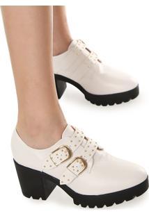 Ankle Boot Vizzano Fivelas Branco