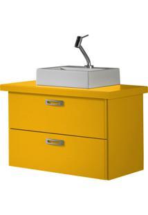 Balcão Suspenso Para Banheiro Kenzo 161 Amarelo - Maxima