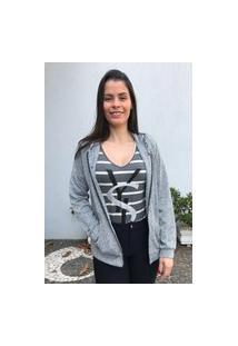 Jaqueta Mac-Lu Feminina Matelassê Linha Premium Cinza Silver