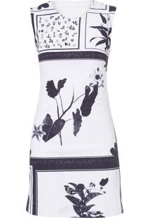 Vestido Curto Floral - Off White