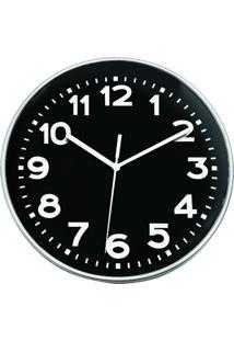 Relógio Decorando Com Classe De Parede Prata Fosco 25Cm
