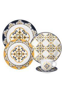 Aparelho De Jantar E Chá Floreal São Luís Oxford Cerâmica 20 Peças