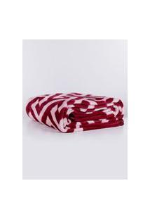Cobertor Casal Corttex Rosa/Vinho