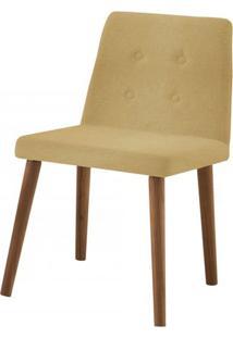 Cadeira Flan Areia Base Castanho - 50726 - Sun House