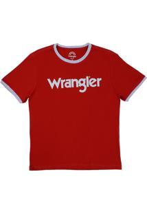 Camiseta Slim Fit Wrangler Vermelha 22056