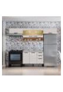 Cozinha Compacta New Jazz Ii 7 Pt 2 Gv Off White E Freijó