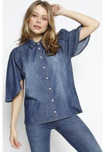 Camisa Jeans Estonada - Azul - Colccicolcci