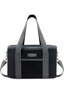 Bolsa Térmica- Preta & Cinza- 18X28X17Cm- Jacki Jacki Design