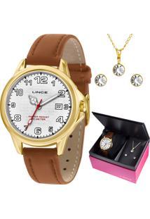 Kit Relógio Lince Feminino Com Colar E Brincos Lrch104Lkw55B2Tx