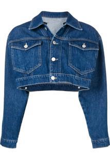 Chiara Ferragni Jaqueta Jeans Cropped - Azul