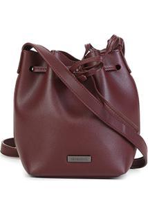 Bolsa Shoestock Bucket Feminina - Feminino-Vinho
