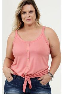 Blusa Feminina Amarração Plus Size Alças Finas Marisa