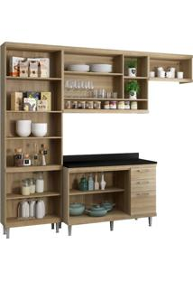 Cozinha Compacta Multimóveis Sicília 5841.132.131.610 Argila Branco Se