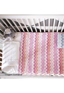 Cobertor Zigzag- Rosa & Rosa Escuro- 90X110Cmcamesa