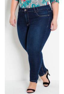 Calça Jeans Plus Size Barra Assimétrica