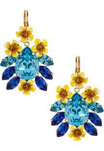Dolce & Gabbana Par De Brincos Com Aplicação - Azul