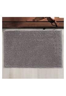 Tapete Chinelle Grecco Microfibra Cinza 40X60 Cm