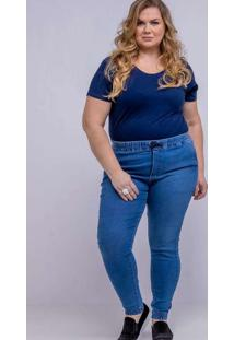 Calça Jogger Almaria Plus Size Shyros Jeans Azul