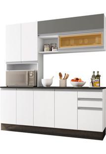 Cozinha Modulada 4 Peças Evidence-Poliman - Branco / Prata