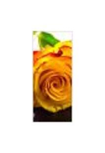 Adesivo Decorativo De Porta - Rosa - Flor - 373Cnpt Auto Colante
