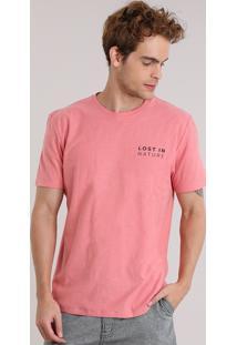 """Camiseta """"Lost In Nature"""" Coral"""