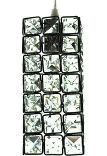 Lustre Pendente Diamante Iluminação Cd3626/1 Transparente Bivolt