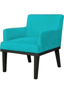 Poltrona Decorativa Para Sala De Estar E Recepã§Ã£O Beatriz Suede Azul Claro - Lyam Decor - Azul - Dafiti
