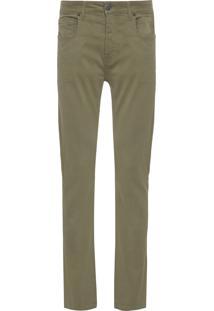 Calça Masculina Jeans Slim - Verde