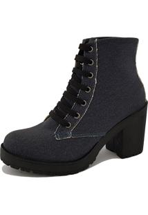 Bota Navit Shoes Tratorada Woman Lona Marinho