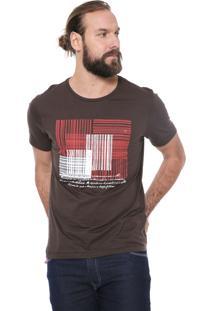 Camiseta Aramis Caligrafia Marrom