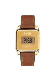 Relógio Coach Feminino Couro Marrom - 14503586
