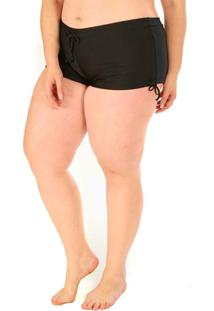 Calcinha Shorts Plus Size Acqua Rosa Preto