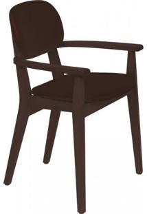 Cadeira Estofada Com Braços London Tramontina Tabaco/Café