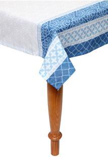 Toalha De Mesa Santista Quadrada Royal Verona Azul