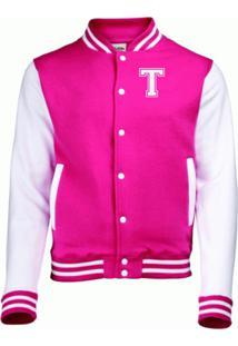 Jaqueta College4Ever Letra T Bordada Pink