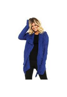 Casaco Tricot Colcci Loose Comfort Azul