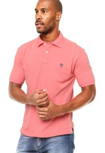Camisa Polo Manga Curta Mr. Kitsch Basic Coral
