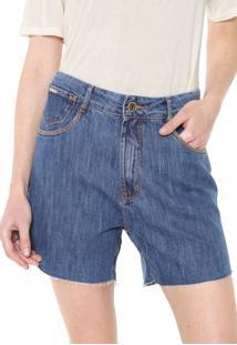 Bermuda Jeans Enna Reta Pespontos Azul